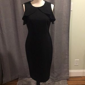 Black Calvin Klein Sheath Dress Sz:4